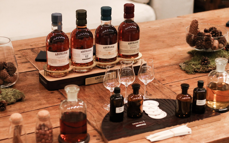 testing whisky aberlour