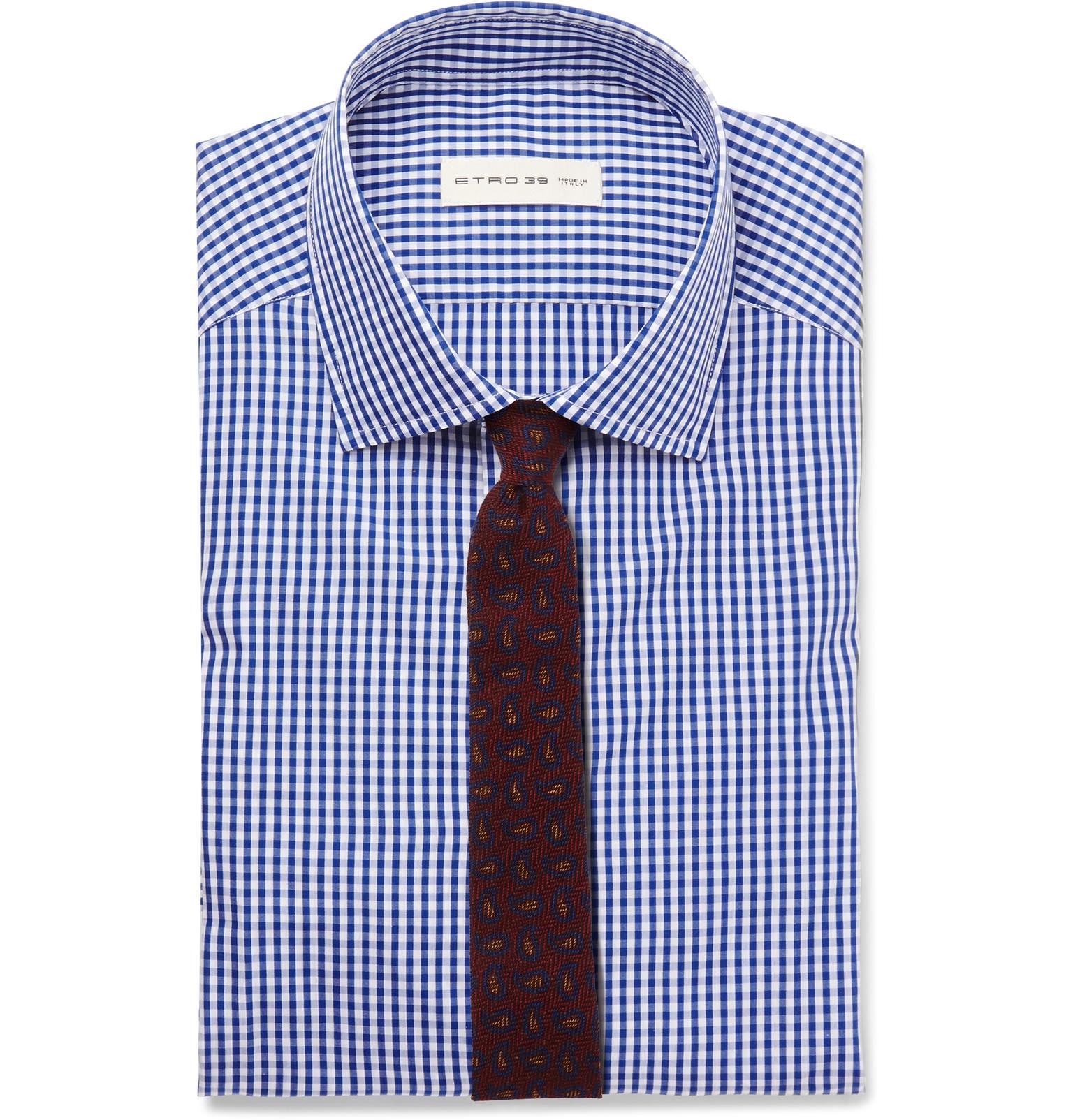 chemise carreaux cravate motifs