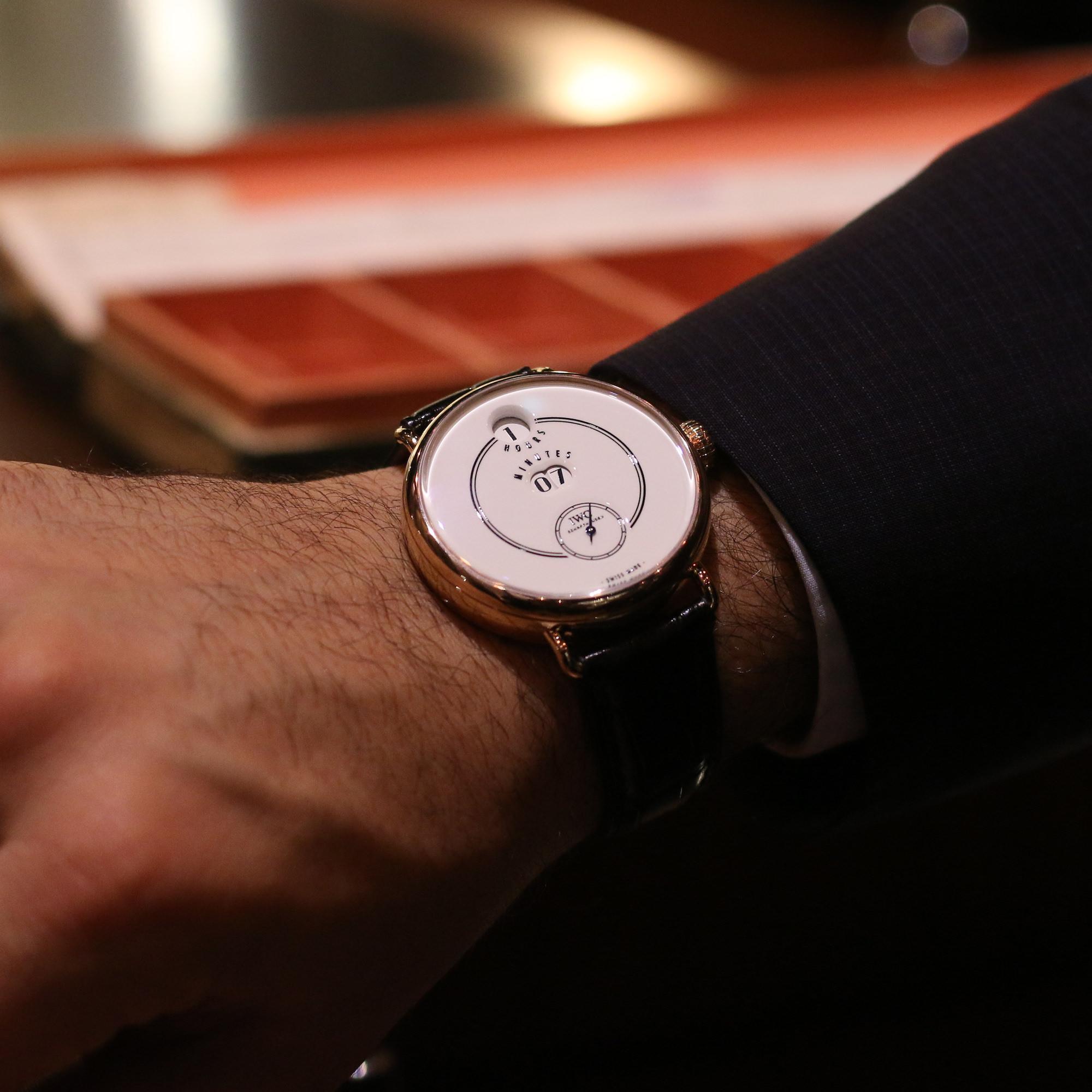 iwc tribute to Pallweber wristshot portee