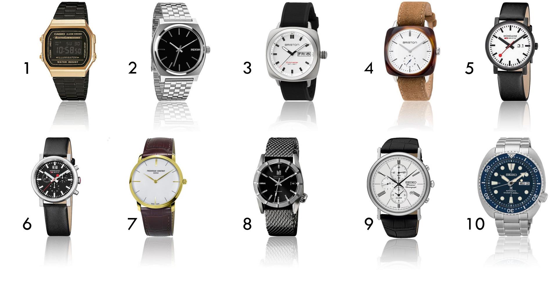 sélection de montres soldées de 0 à 500€