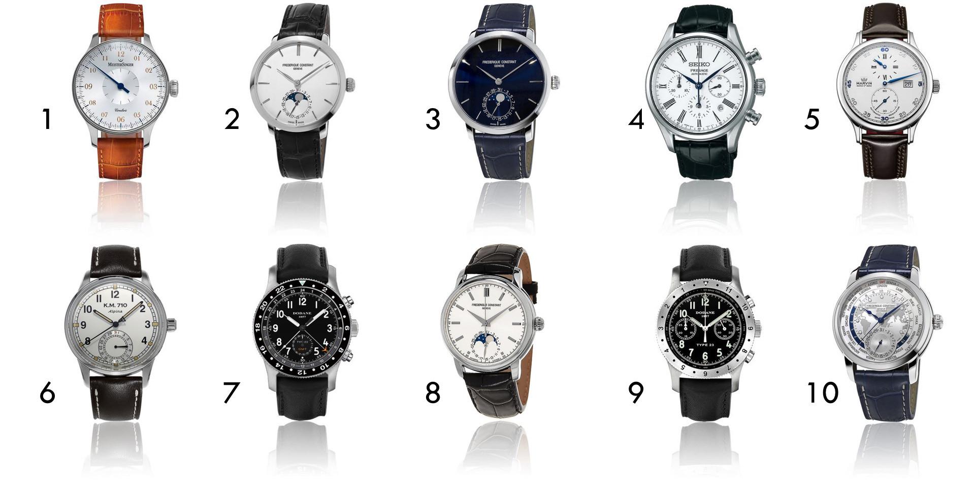 sélection de montres soldées de 1000€ et plus