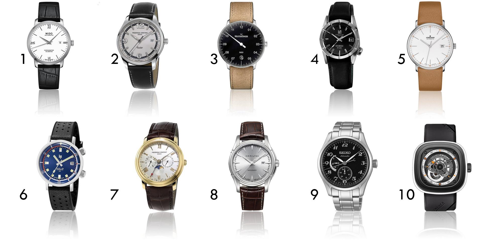 sélection de montres soldées de 500€ à 1000€