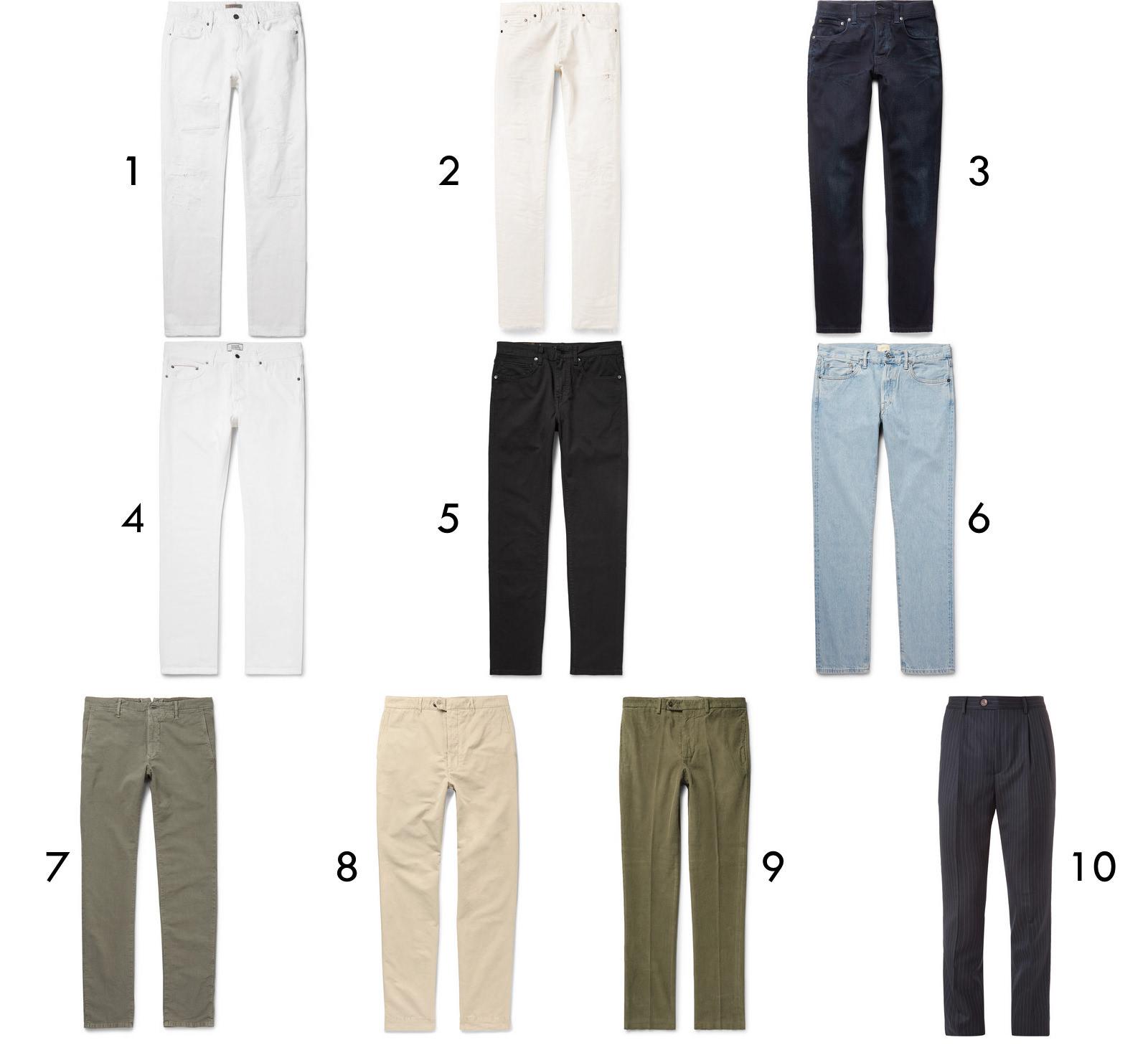 pantalons en soldes chez MrPorter