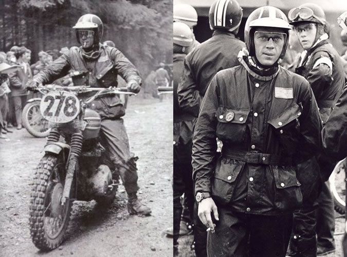steve mcqueen barbour veste poche inclinee