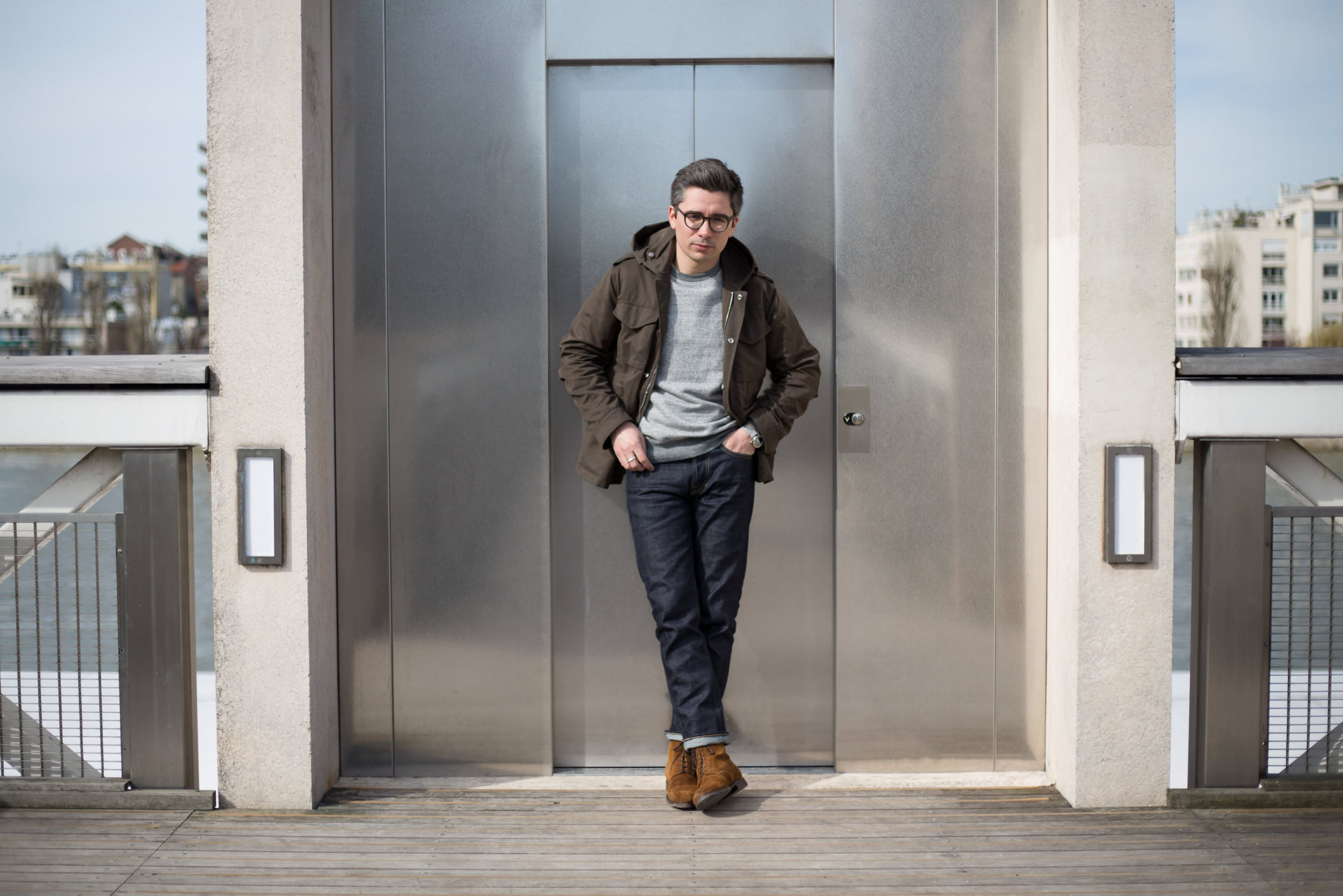 veste deperlante a capuche type field jacket mr p par mr porter