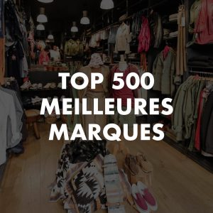top 500 meilleures marques homme