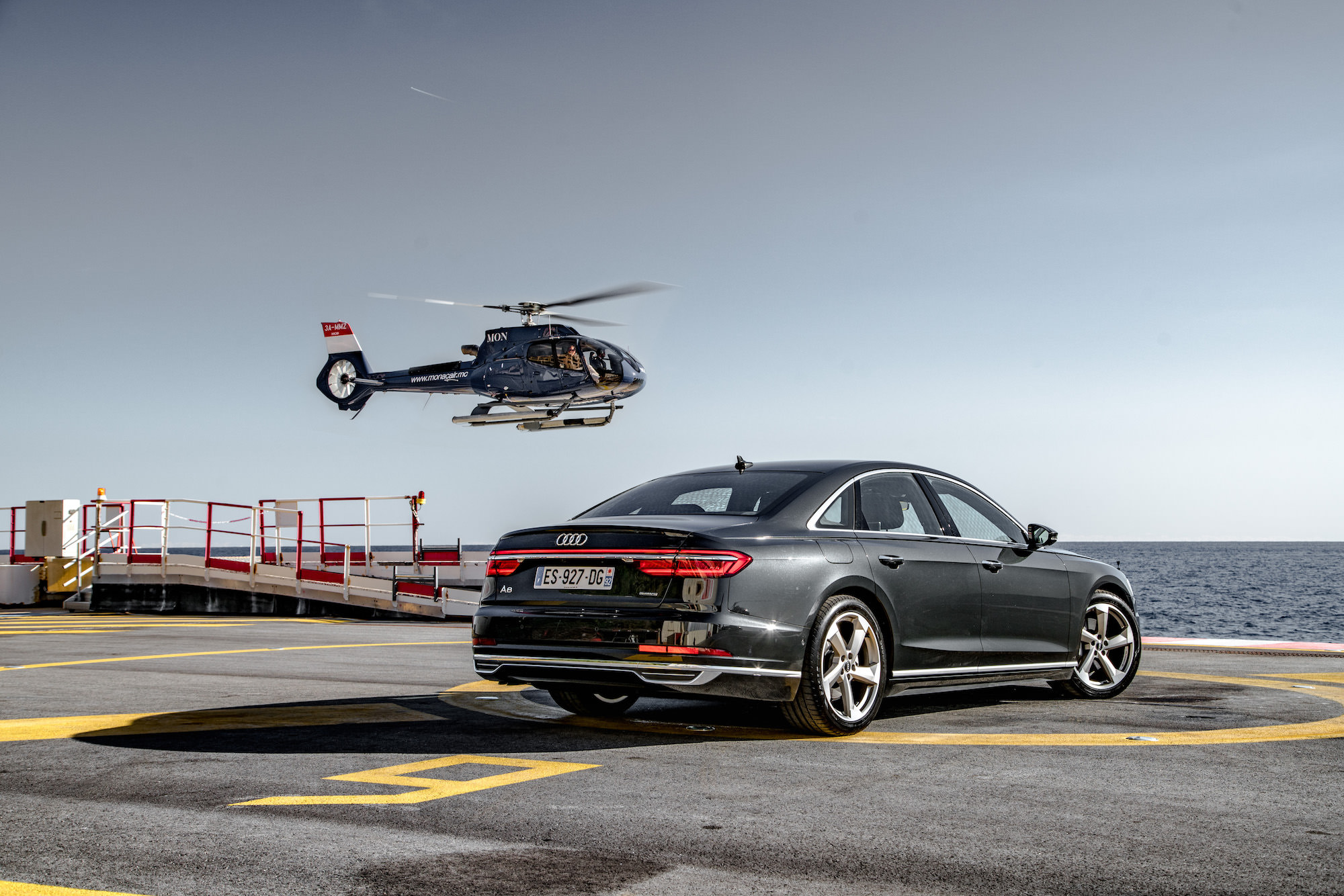 Audi A8 helicopter