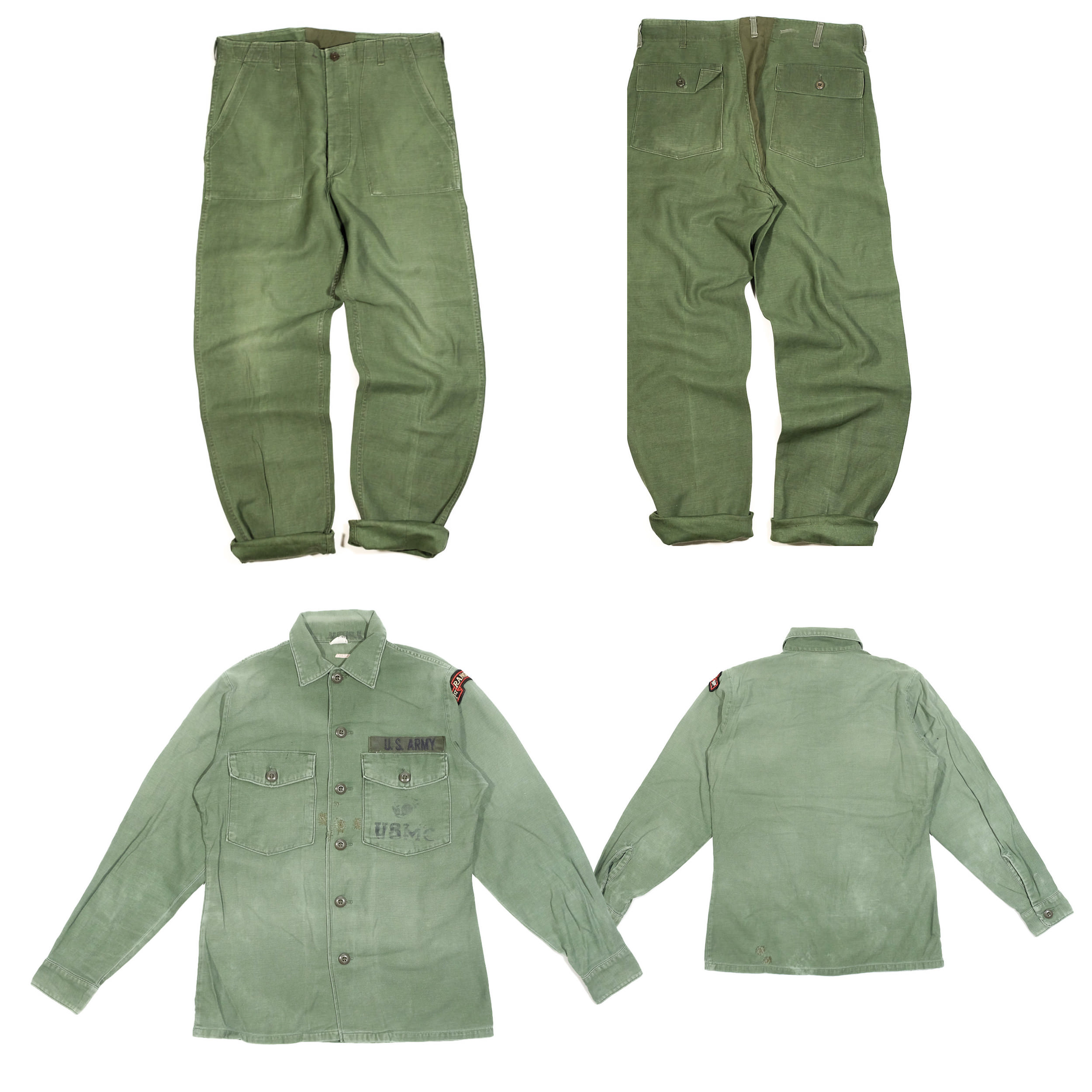 """OG-107 Utilities fatigue pant & chemise """"USMC"""" OG107 vert olive"""