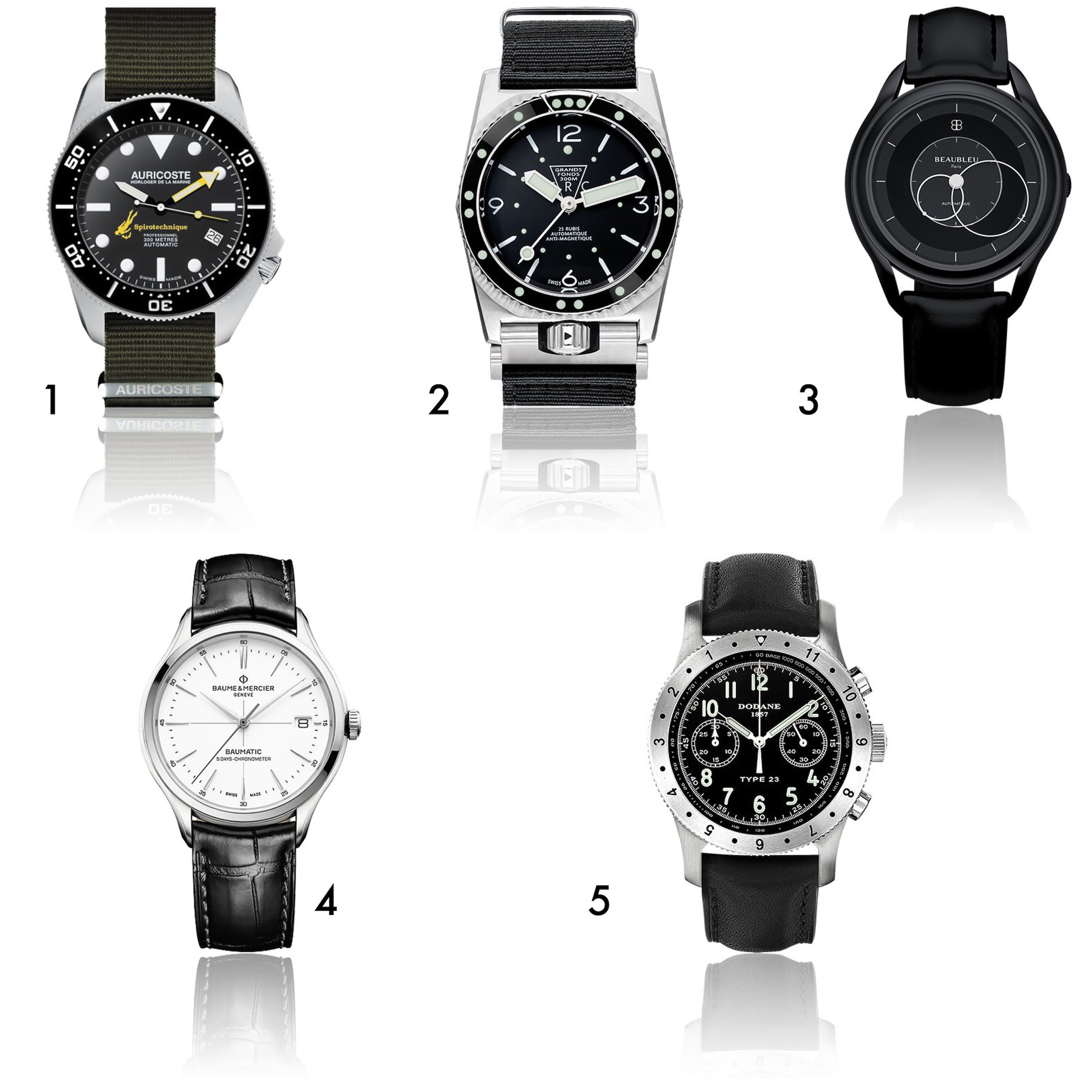 3 montre multi marques homme noel