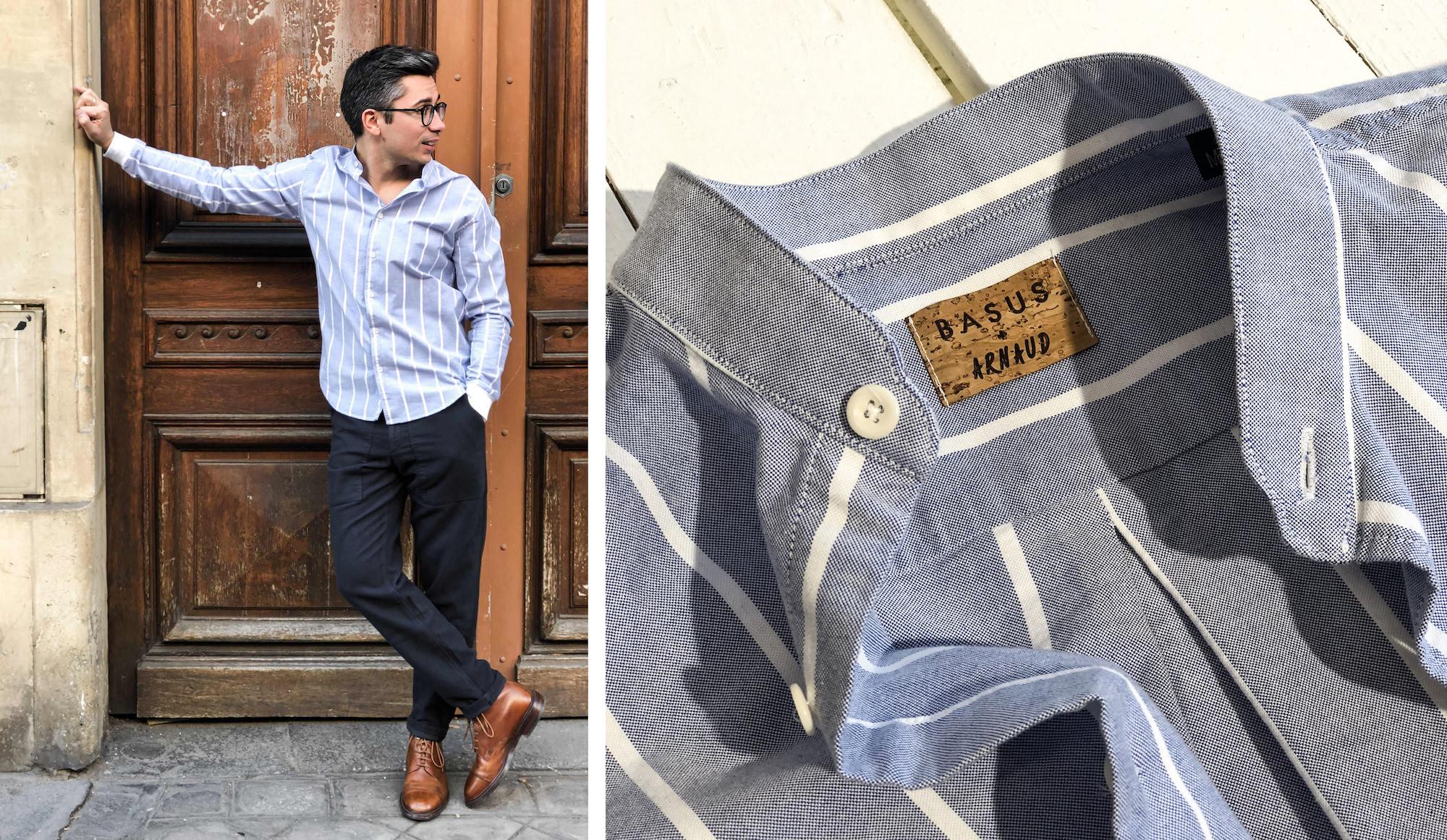 basus chemise rayee personnalise