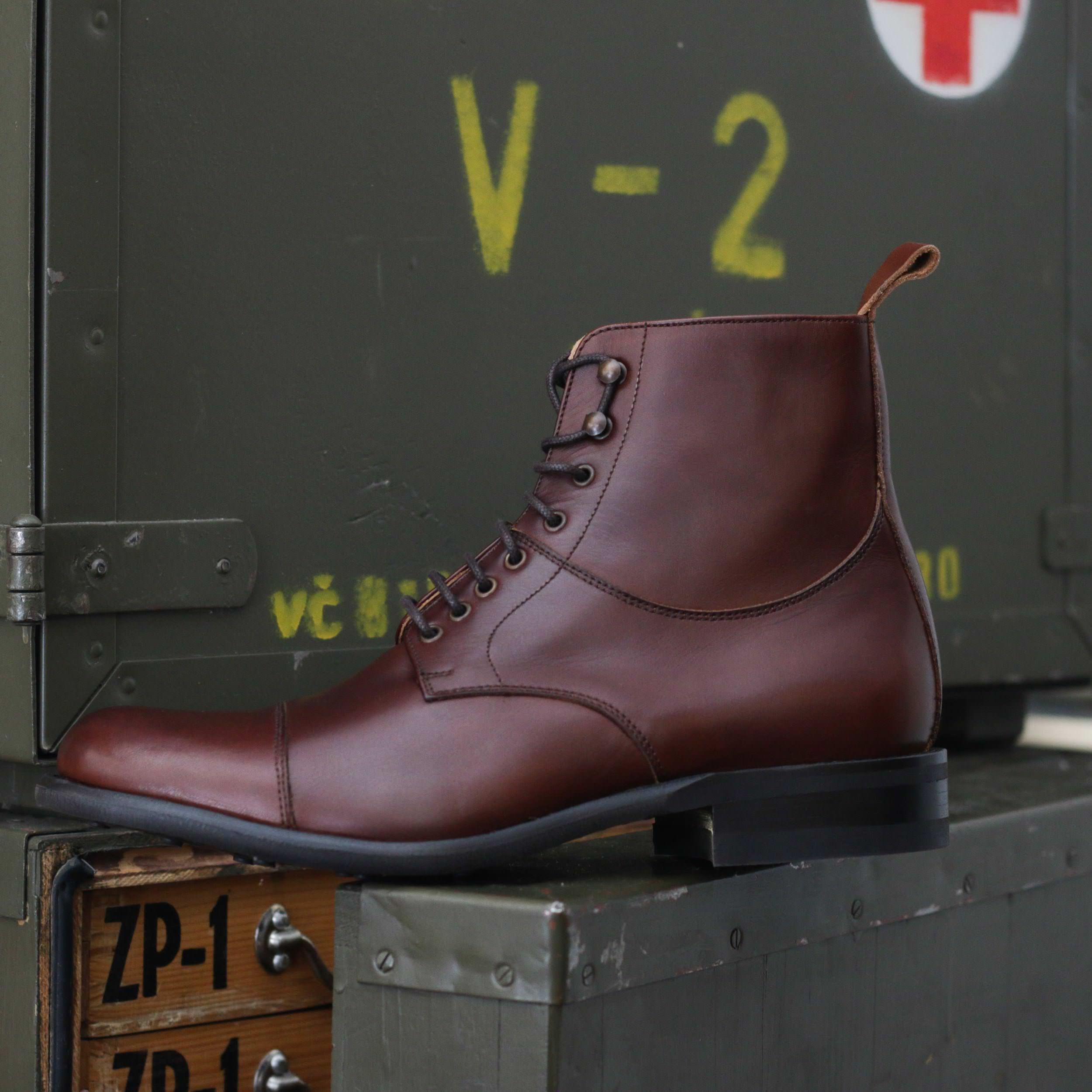bottine cuir marron british shoes