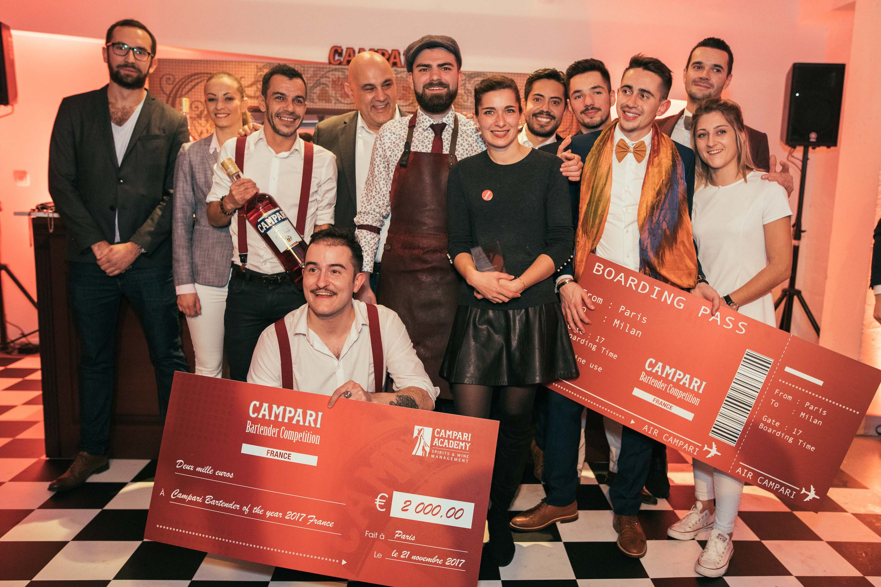 gagnant 2017 campari bartender competition et jury