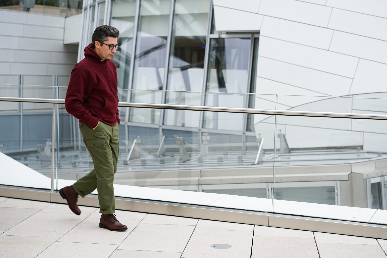 look homme pantalon cargo