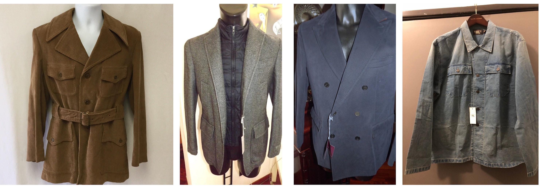 selection vintage homme veste et costumes