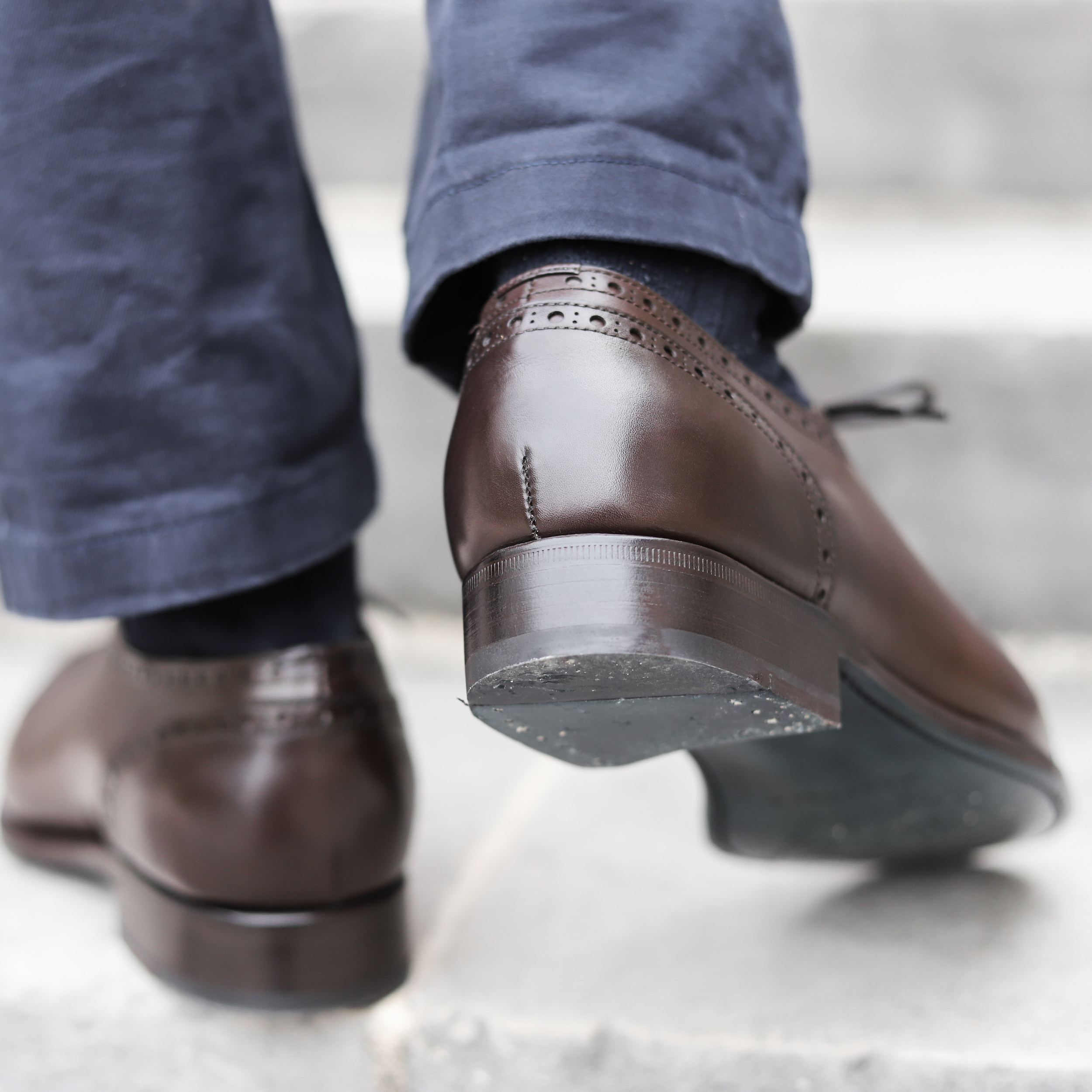 talon chaussure homme