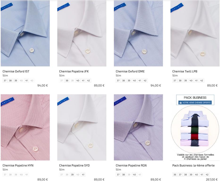 Offre de chemise Office artist