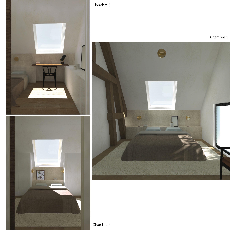 3D maison VGL etage chambres