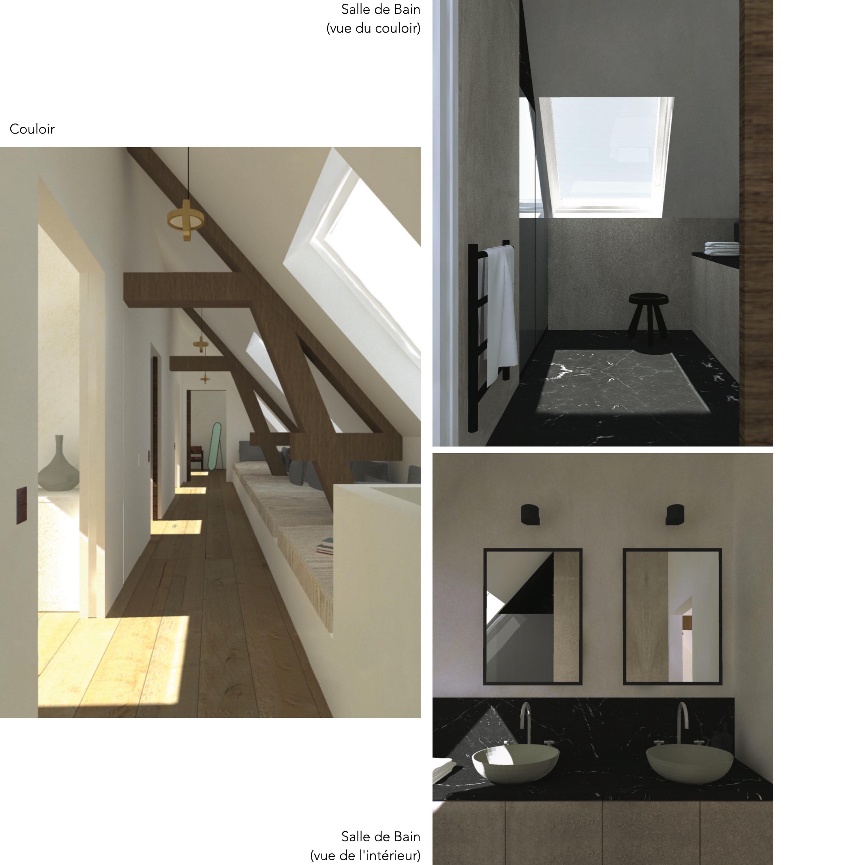3D maison VGL etage sdb couloir