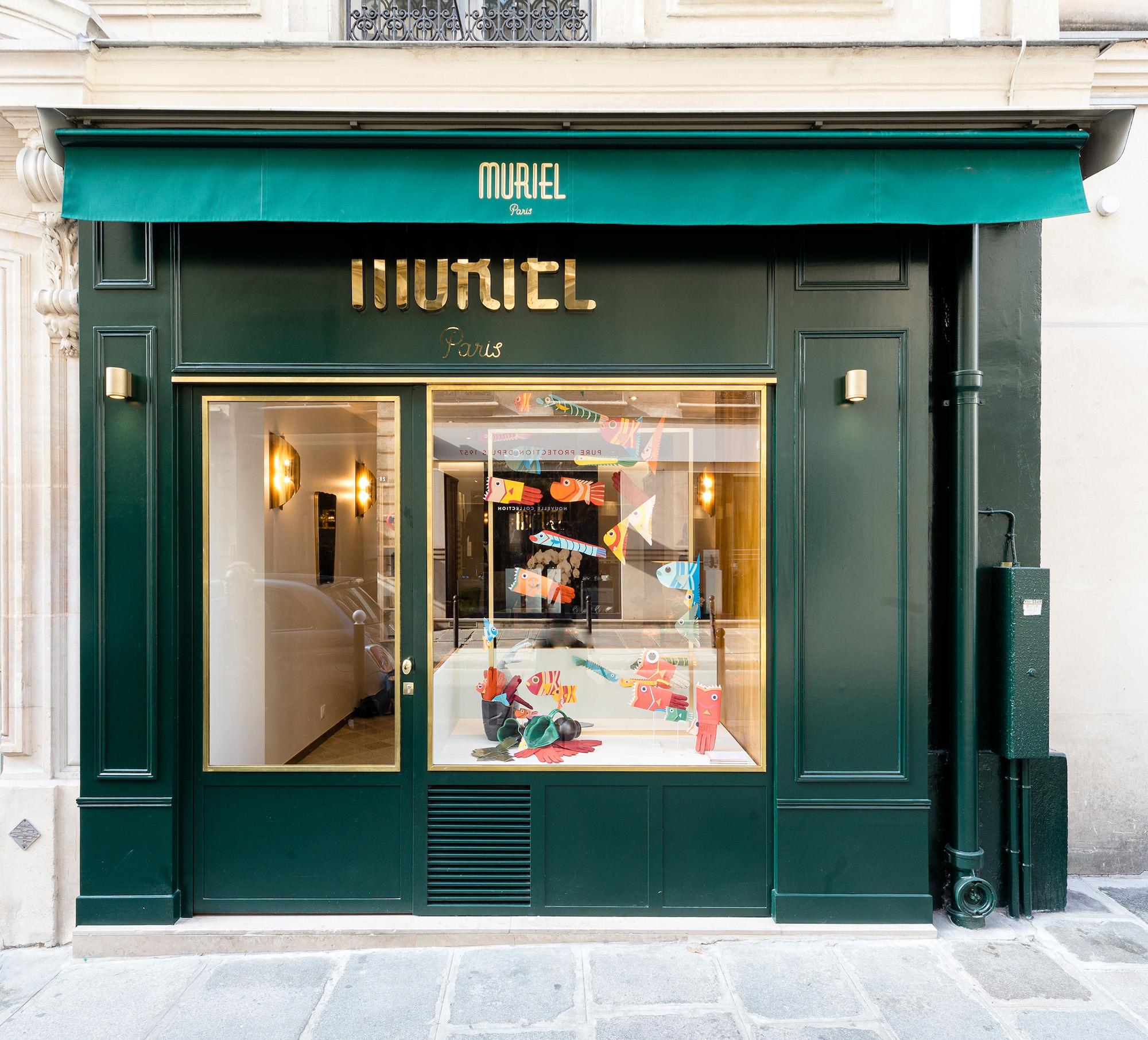 Devanture boutique gants Muriel