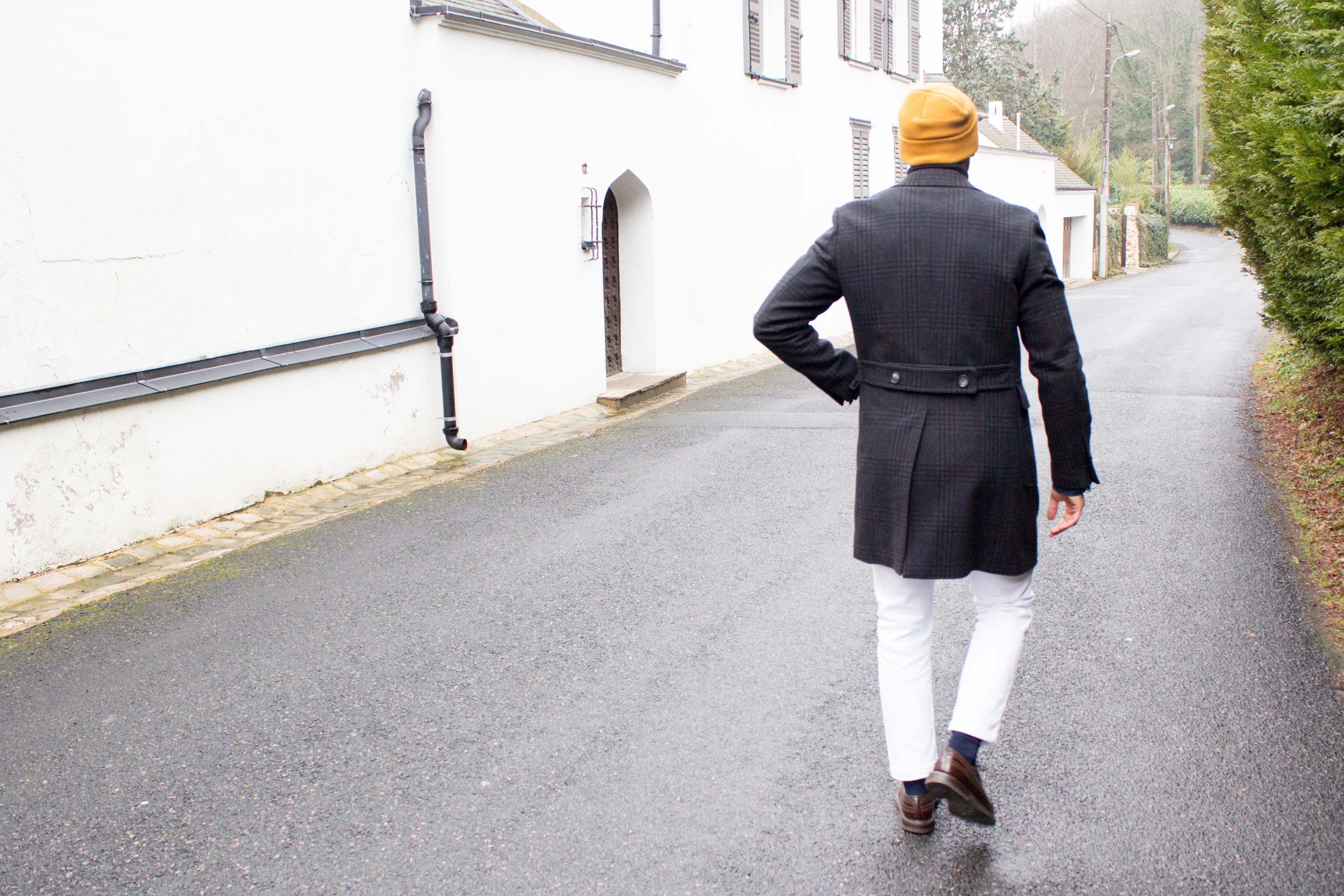 Manteau Gabin Cadot porté de dos