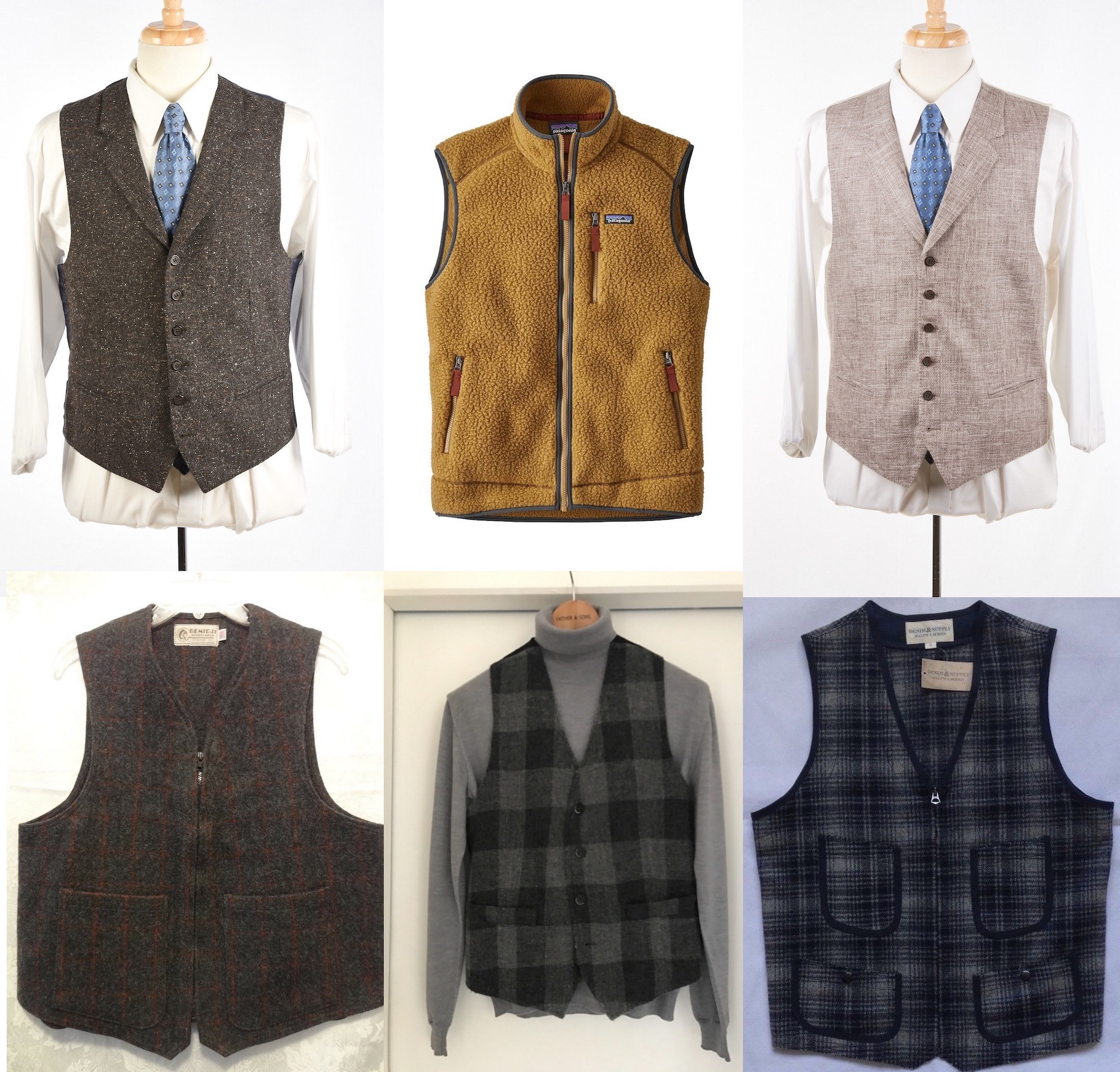 gilet homme vintage selection