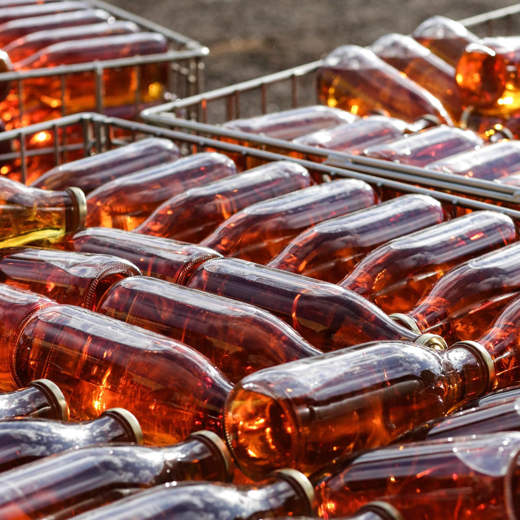 jus de pomme bouteilles