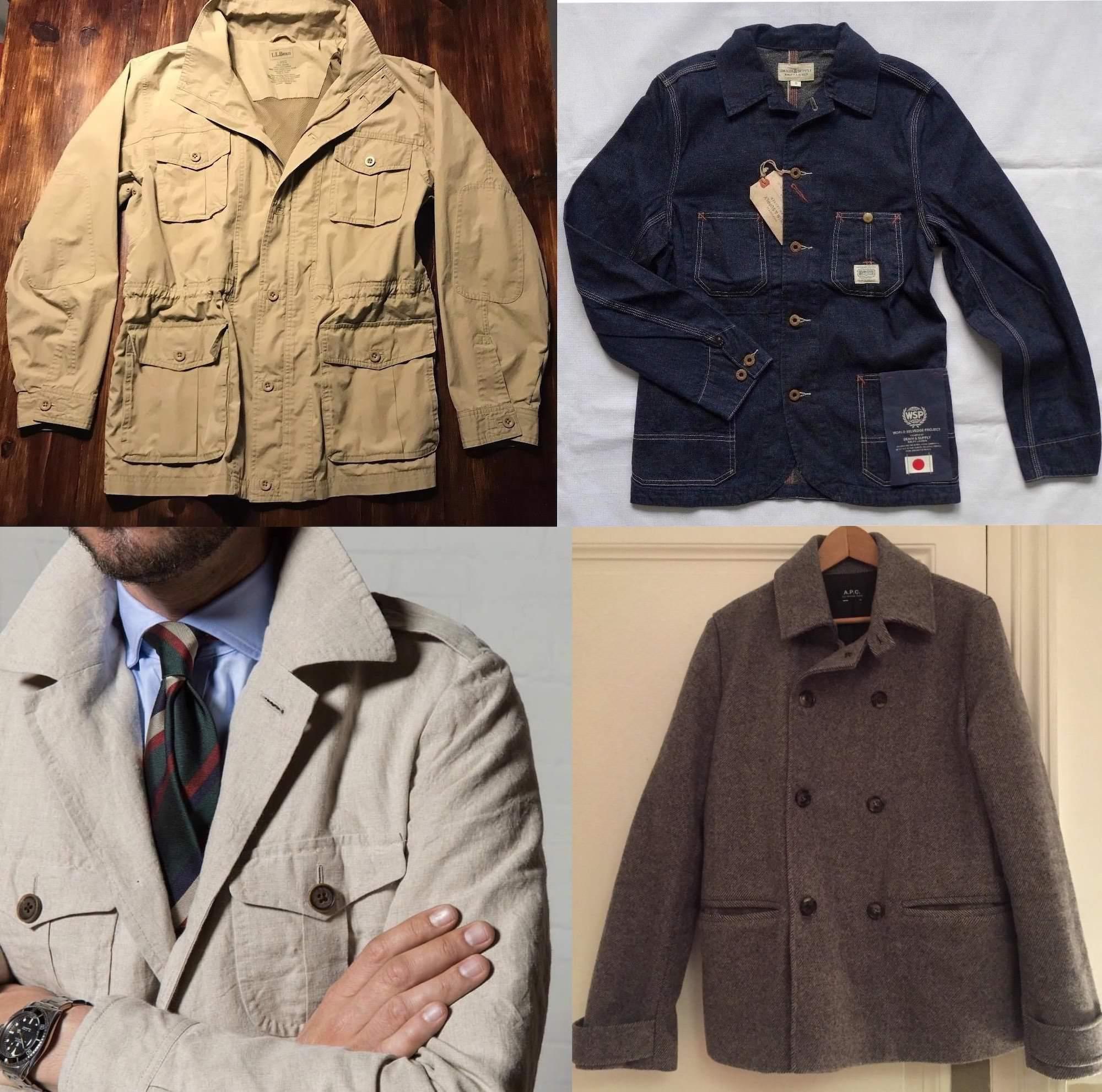 manteaux homme vintage selection
