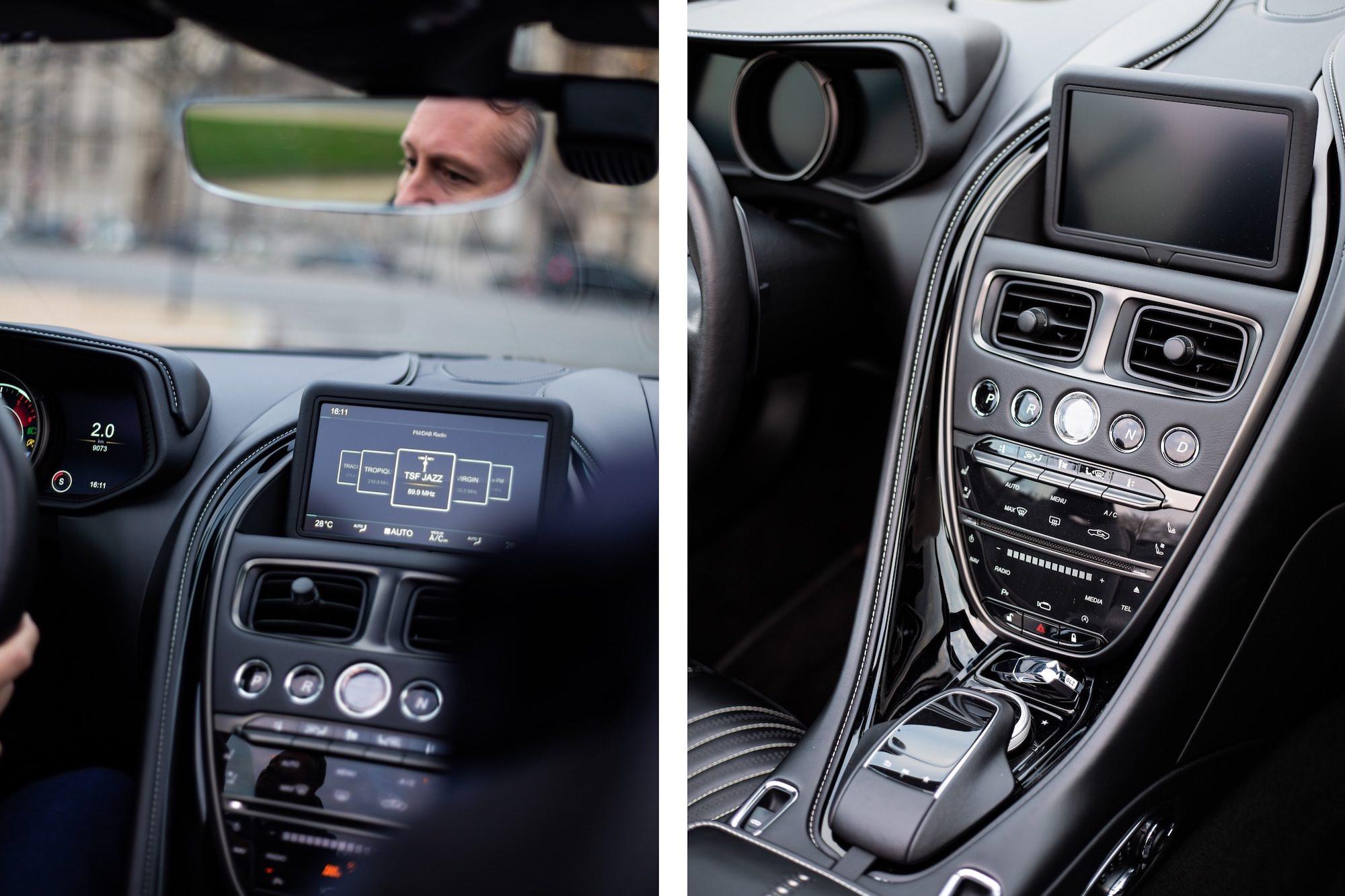 tableau de bord Aston Martin DB11 volante