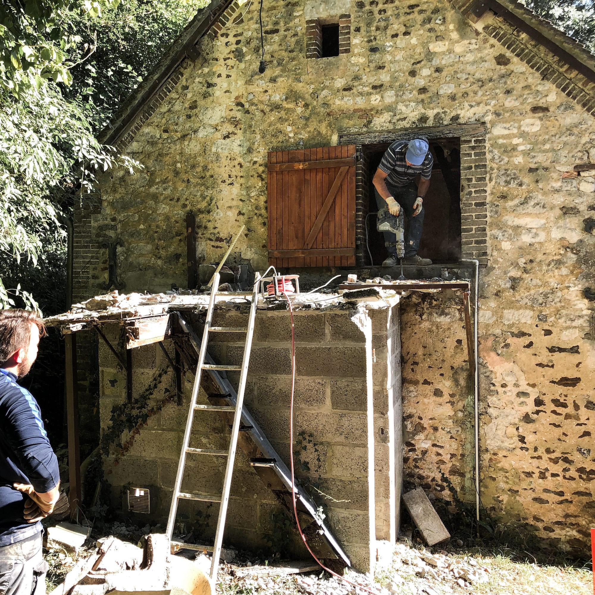 demolition local chaufferie aglo maison vgl