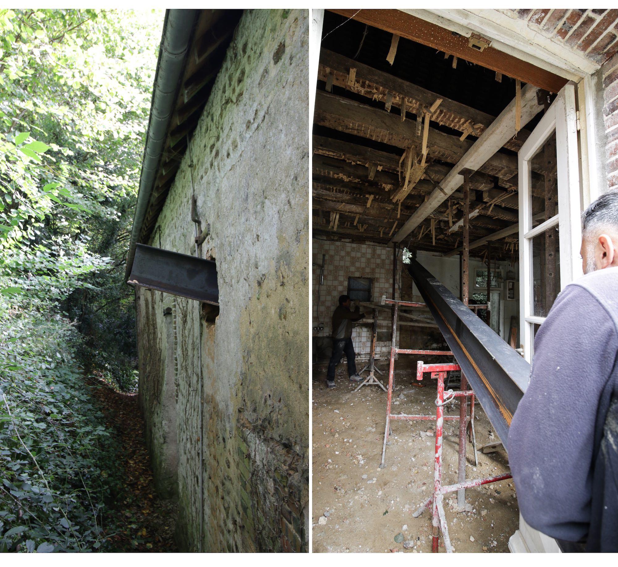 poutre ipe mur renovation maison