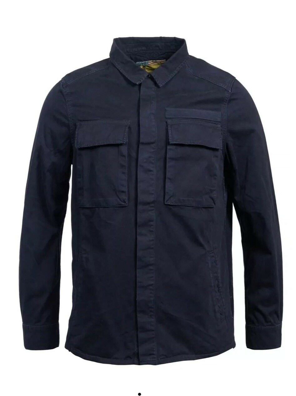 BARBOUR INTL STEVE MCQUEEN COMMAND OVERSHIRT BLUE RRP£109
