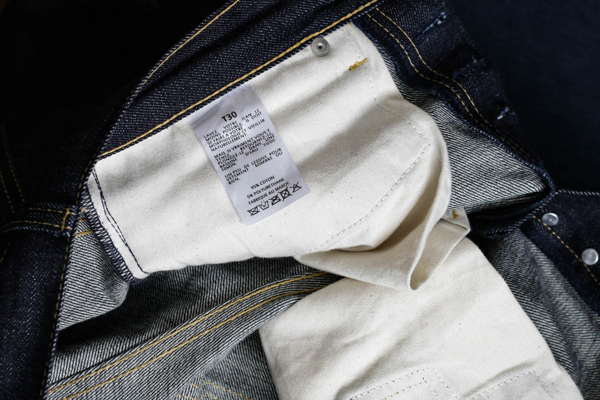 Comment laver jean
