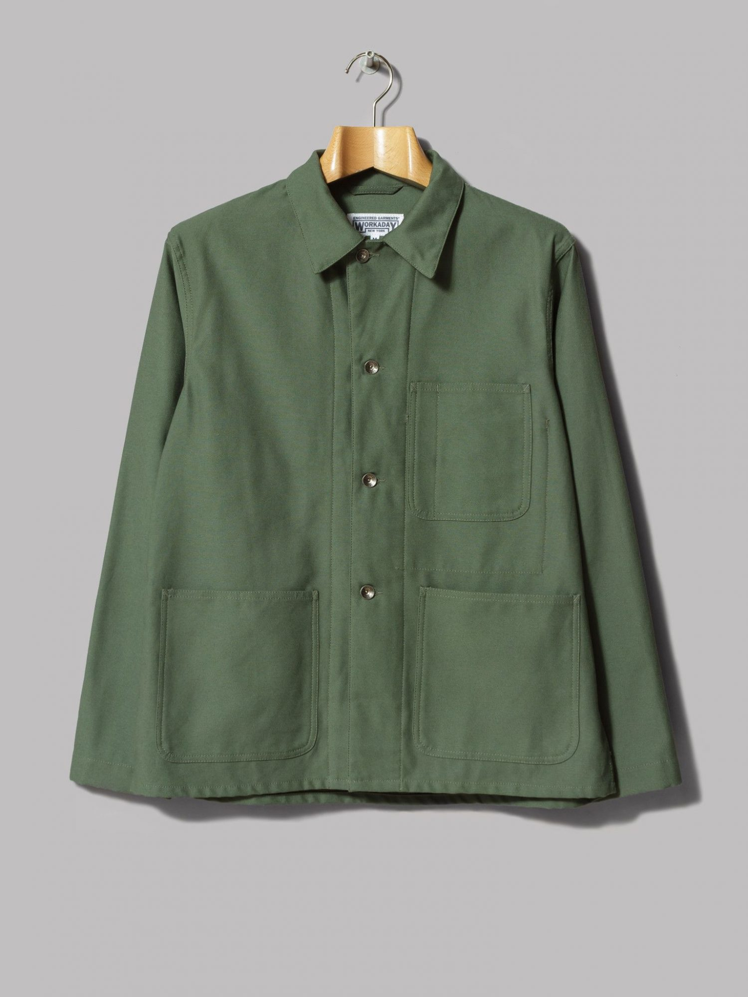 Engineered Garments | Fade utility veste, vert olive, t. L