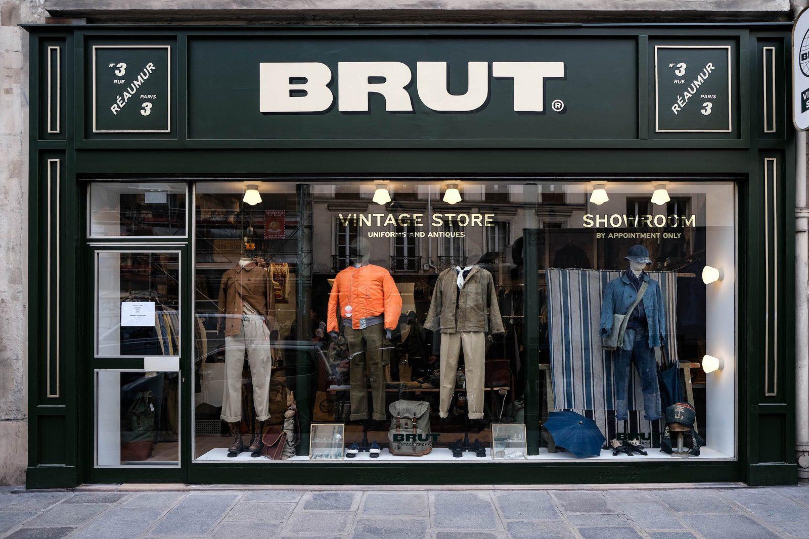 brut vintage store and showroom paris