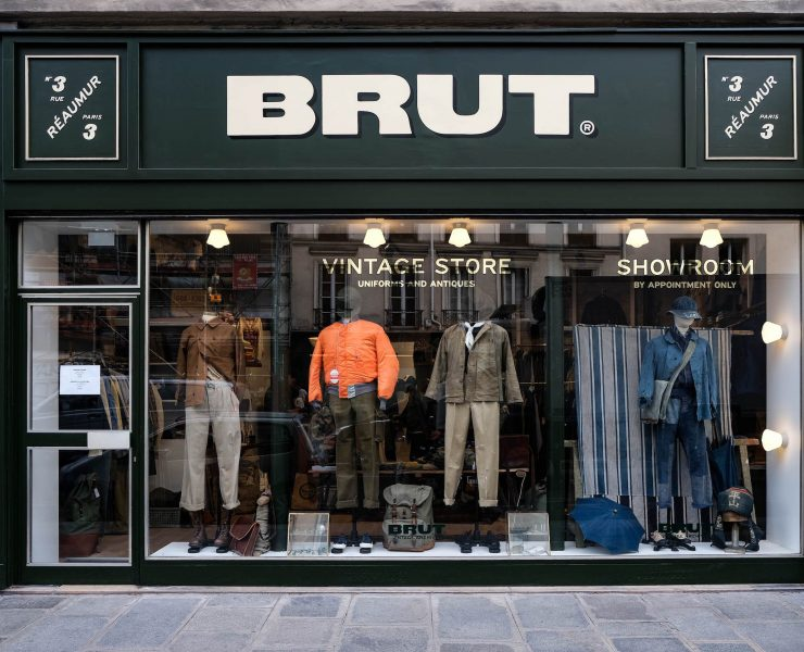brut vintage store and showroom paris