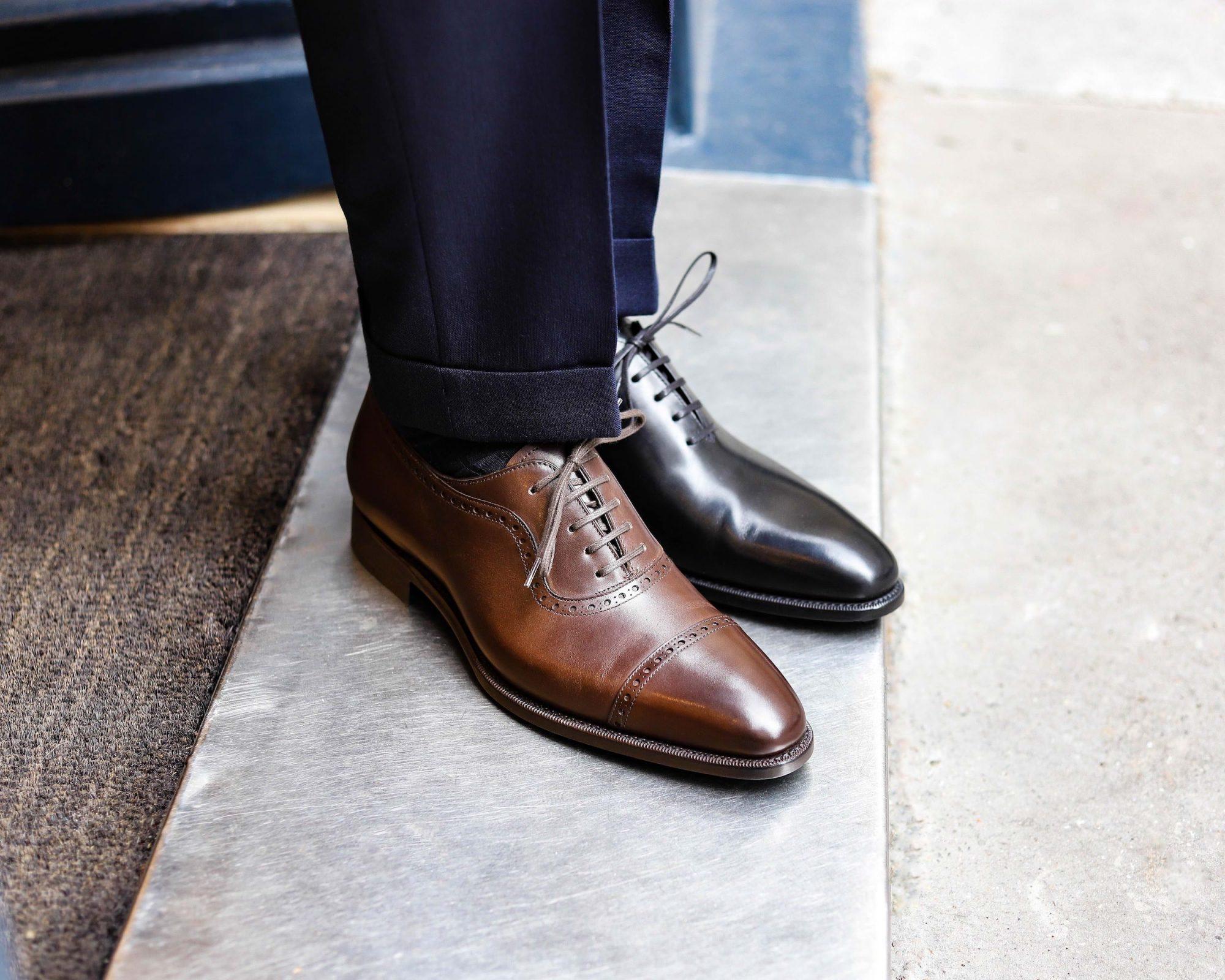 chaussure de mariage marron ou chaussure noir