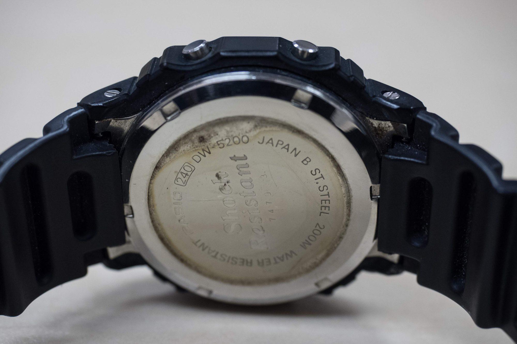 premiere casio g-shock DW5000C caseback
