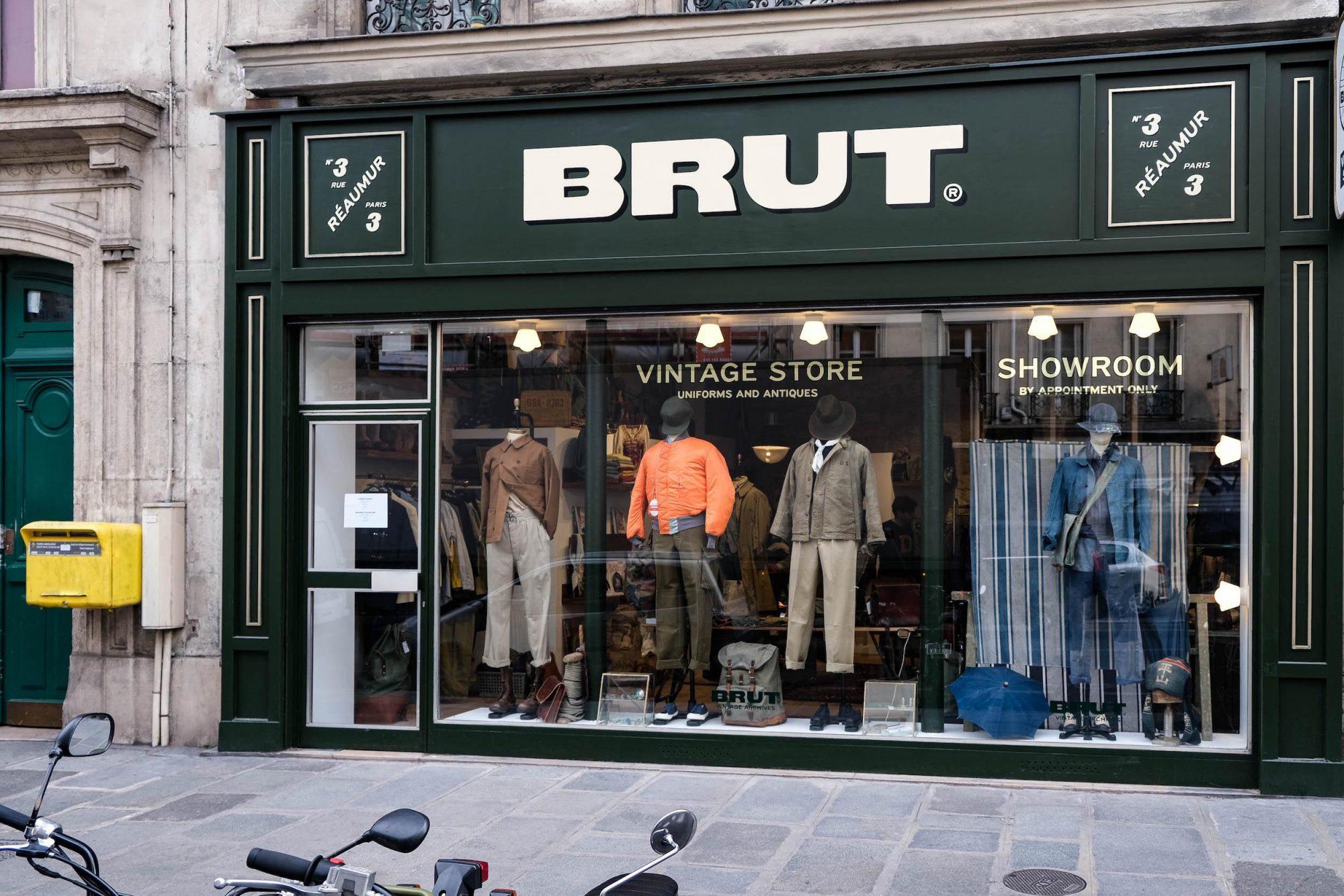 vitrine boutique brut rue reaumur paris