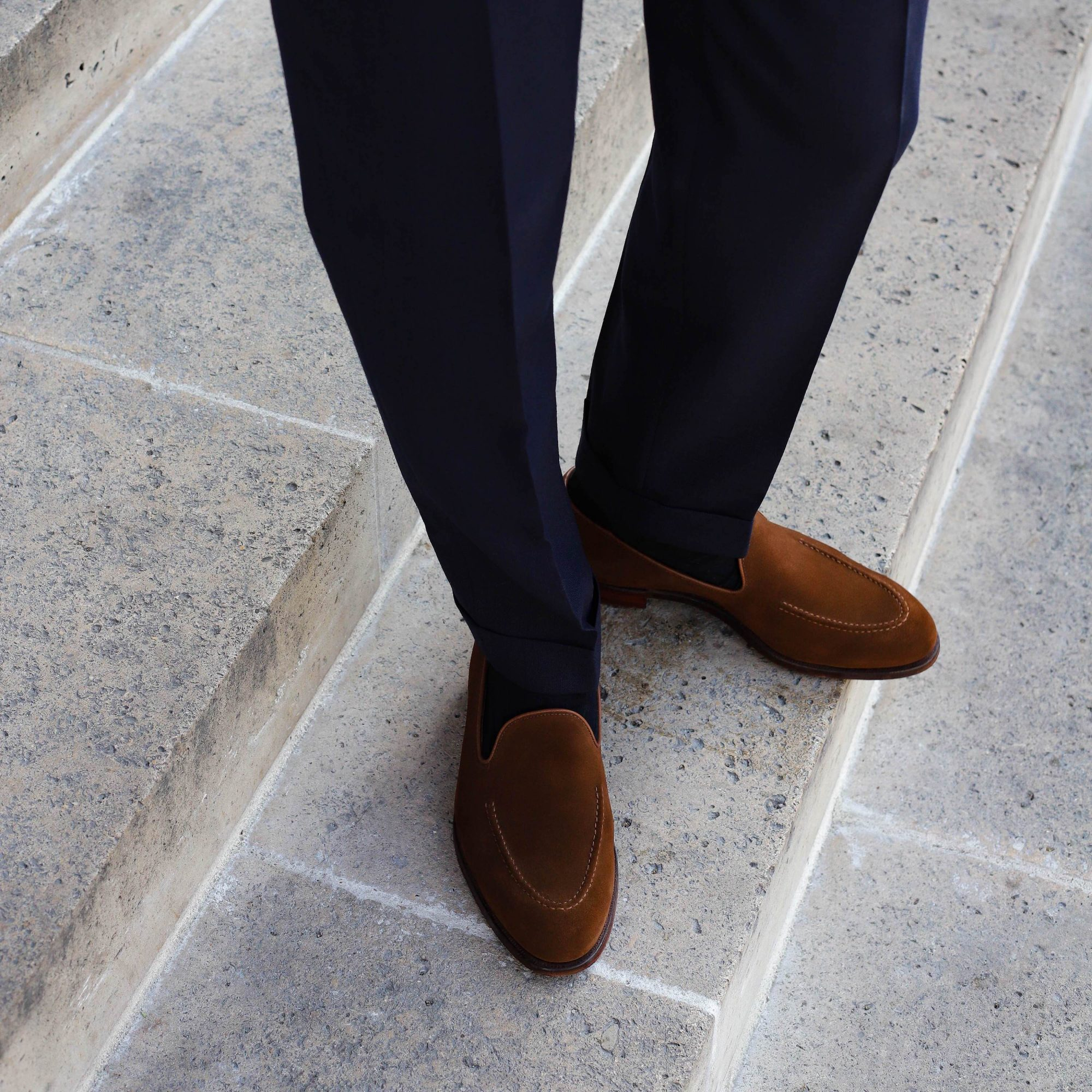 Tasselless loafer crockett and jones