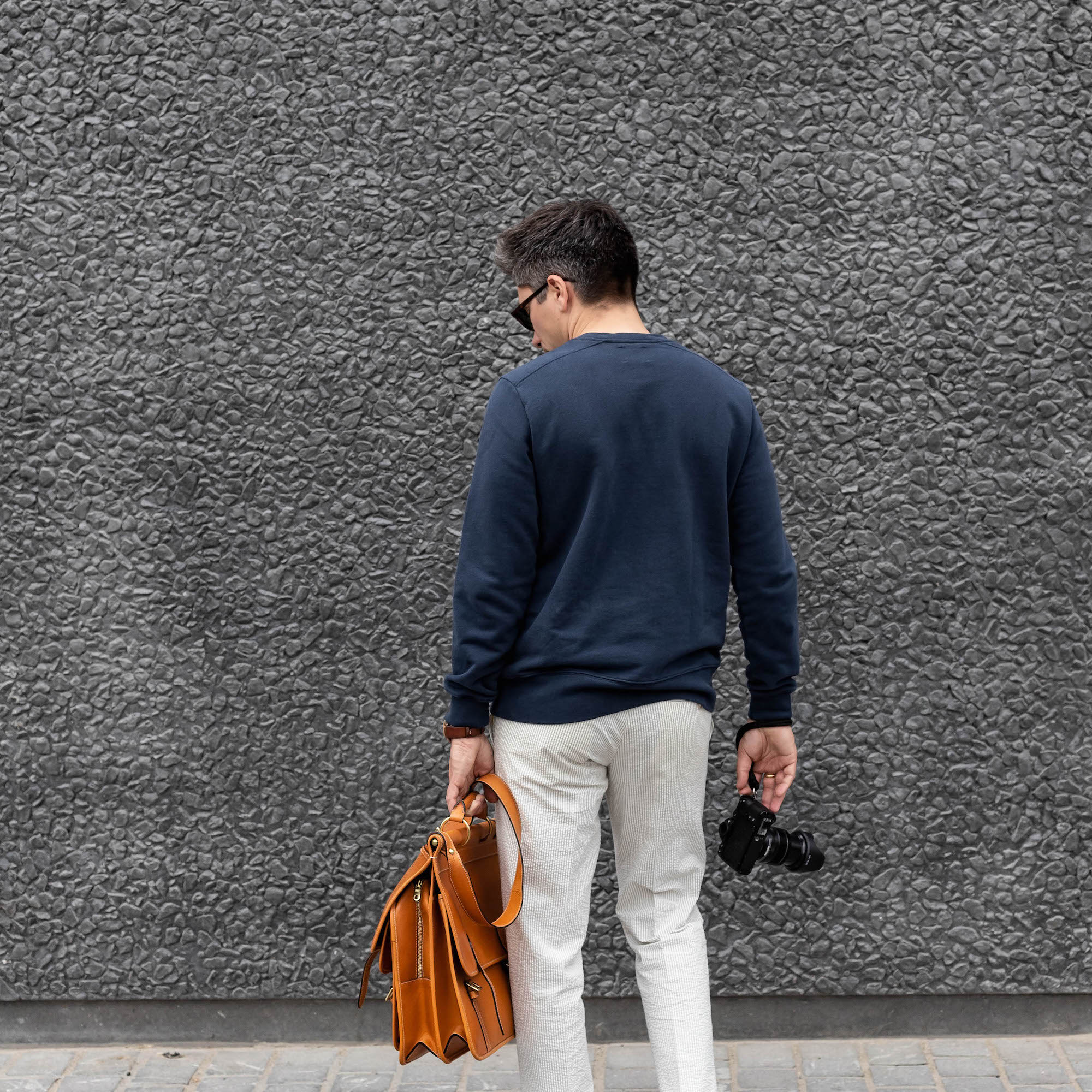 sweatshirt homme bleu