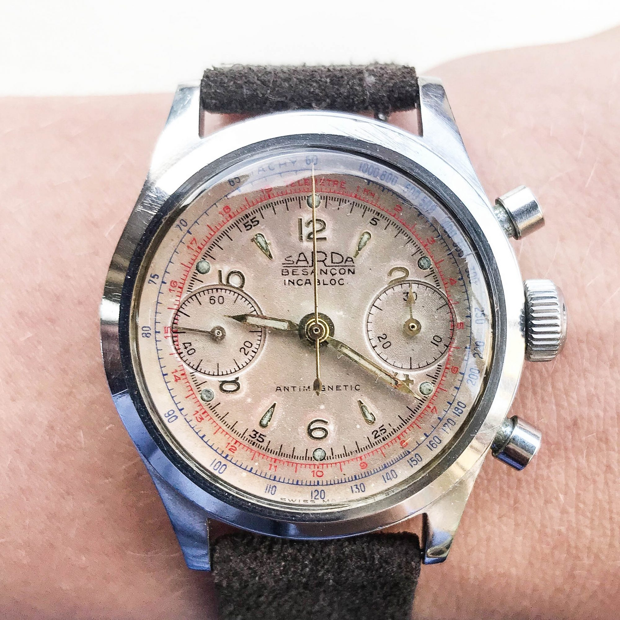 chronographe sarda vintage