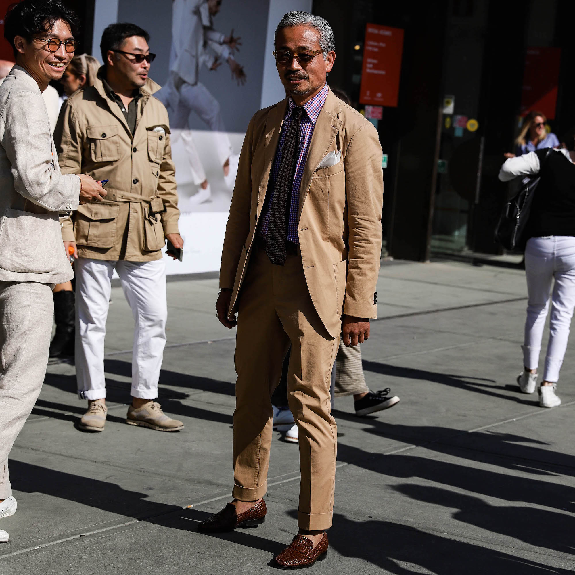 costume homme beige cotton