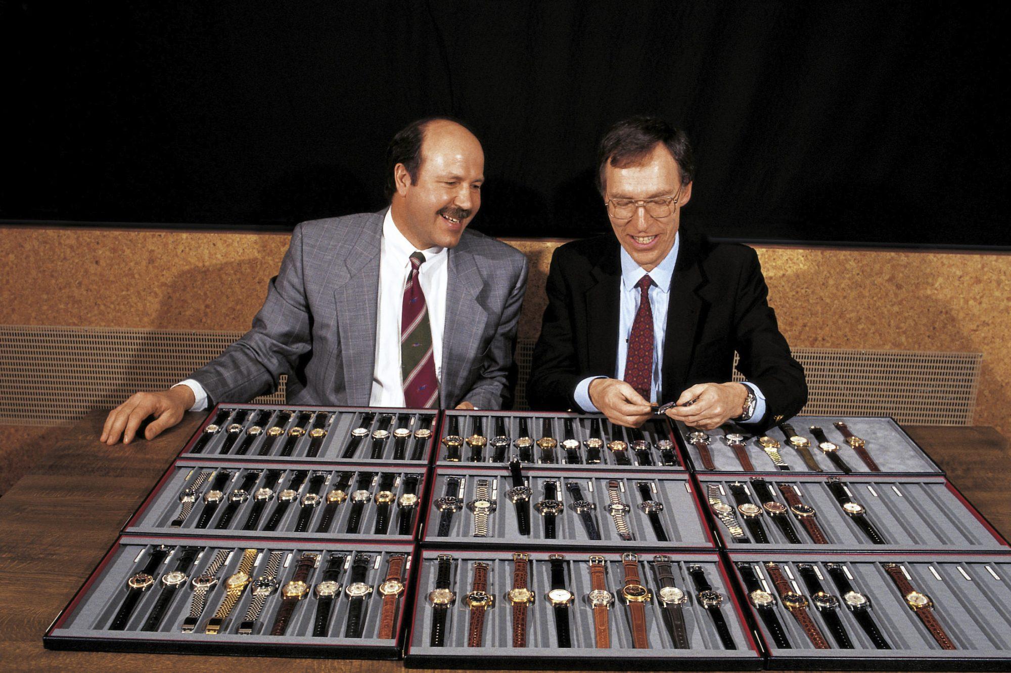 Ulrich W. Herzog (gauche) / Dr. Rolf Portmann (droite) - 1982
