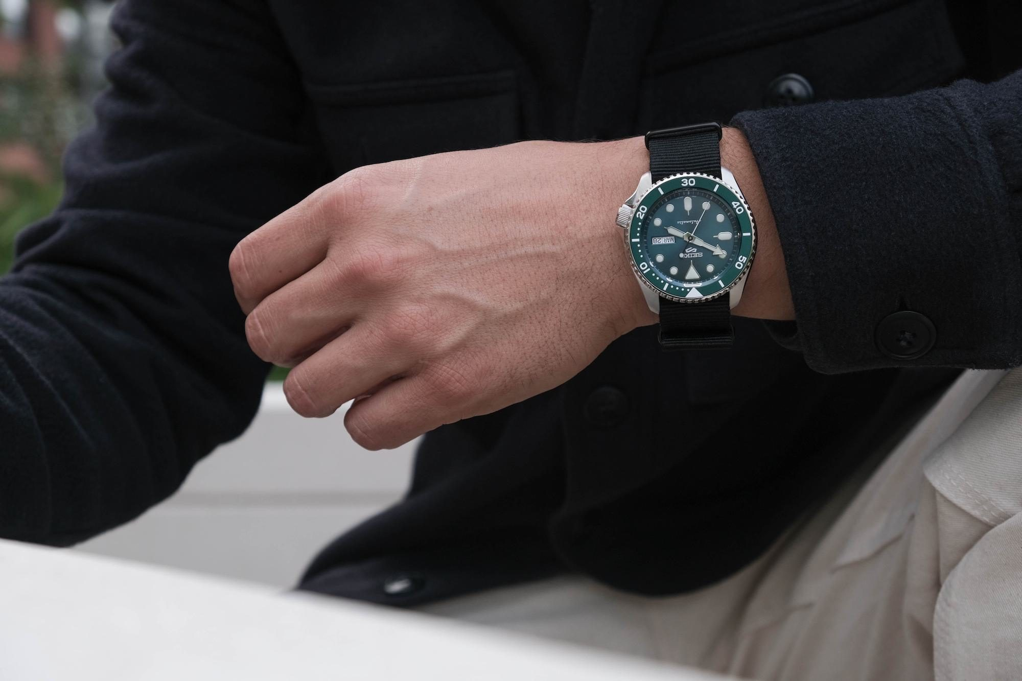 cadran Seiko 5 sports