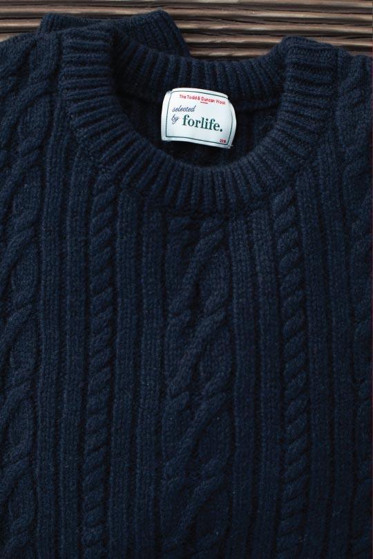 pull bleu marine laine