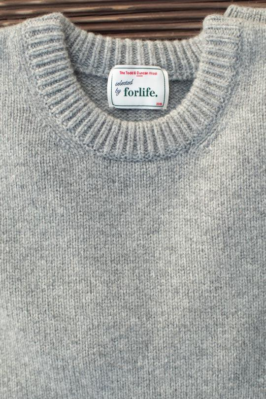 pull gris laine