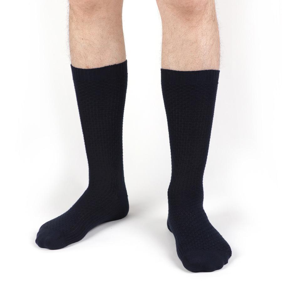 chaussettes homme bleues petrone paris
