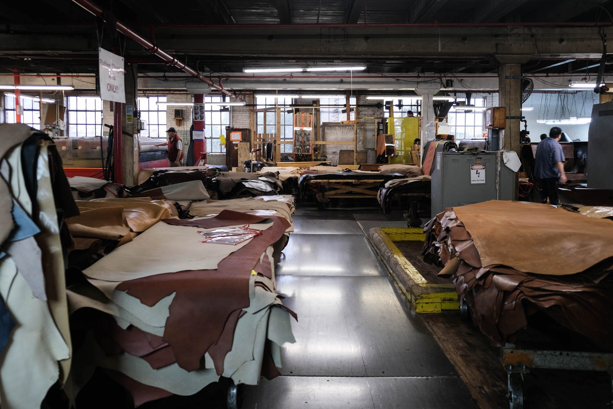 Stock cuir Visite Tannerie Horween