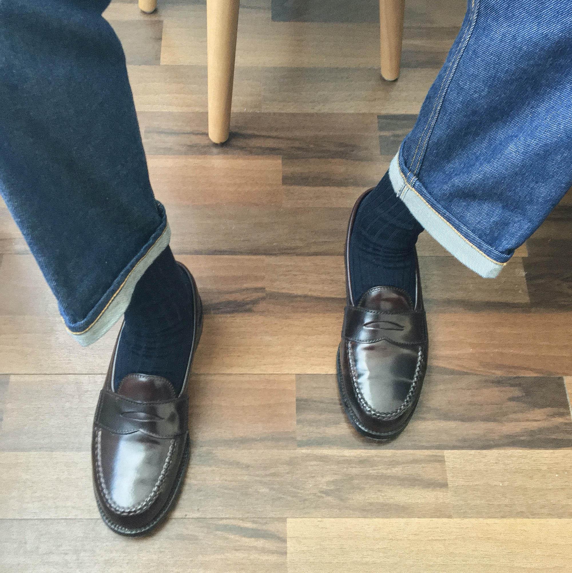 Alden Penny loafer 986 cordovan jean