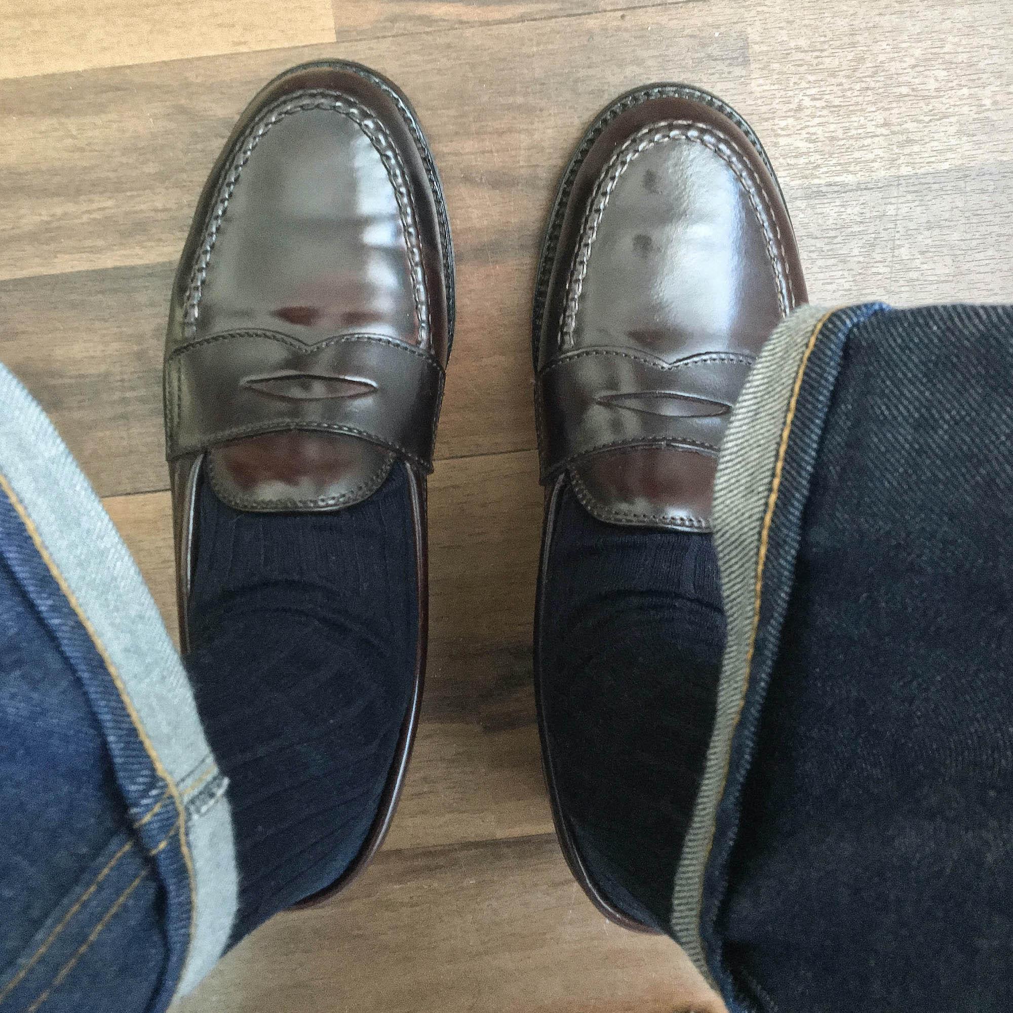 Alden Penny loafer 986 cordovan vue du dessus